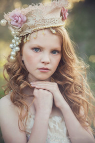 Hand Made Couture Floral Crown For Girls | Girls Couture Crown