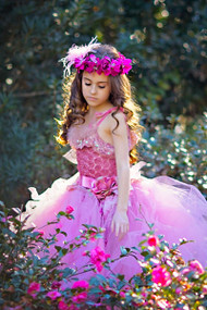 Little Girls Couture Flower Crown | Girls Couture Halo For Weddings