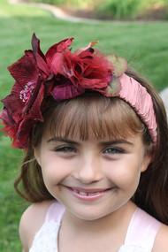 Girls Couture Silk Flower Headband | Silk Floral Headpiece For Kids