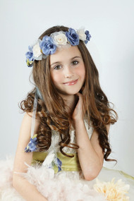 Couture Flower Girl Halo | Wedding Flower Wreath For Kids