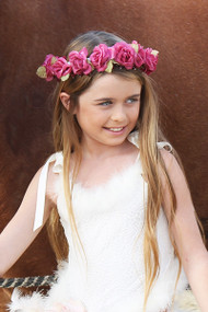 Girls Couture Flower Crown | Couture Flower Girl Halo For Weddings