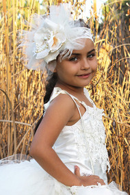 Little Girls Couture Feather Headband | Kids Feather headband