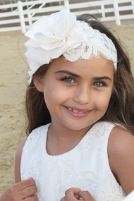Couture Lace Headband For Girls | Beautiful Flower Lace Headband