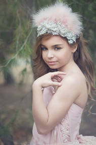 Gorgeous Girls Couture Feather Crown | Kids Feather Lace Crown