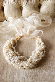 Couture Pearl Headband For Girls | Couture Pearl Belt For Girls Dress