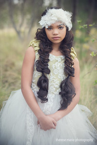 Special Occasion Lace Feather Couture Headband For Kids