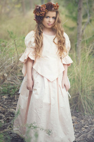 Girls Couture Victorian Gown | Girls Beautiful Special Occasion Couture Gown