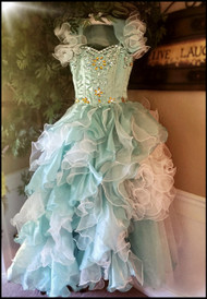 Couture Ruffled Pageant Dress For Girls | Kids Couture Princess Pageant Gown