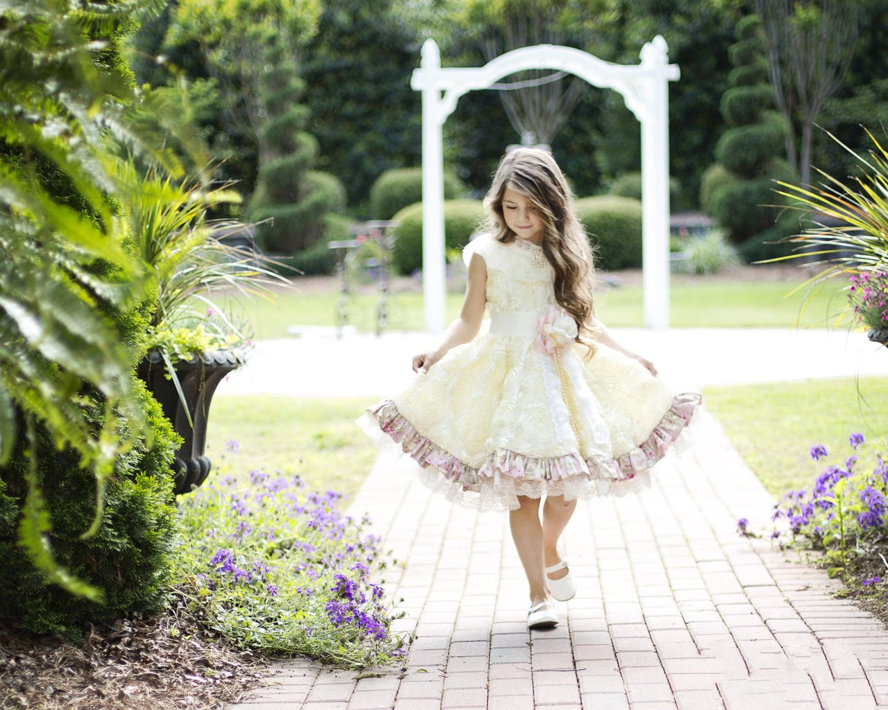 cfde481e Gorgeous Little Girls Couture Tea Party Dress | Couture Flower Girl ...