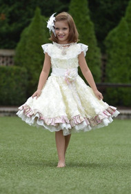 Gorgeous Little Girls Couture Tea Party Dress | Couture Flower Girl Dress