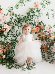 Adorable Baby Tulle Ruffled Dress  | Hi Lo Baby Ruffled Tulle Dress