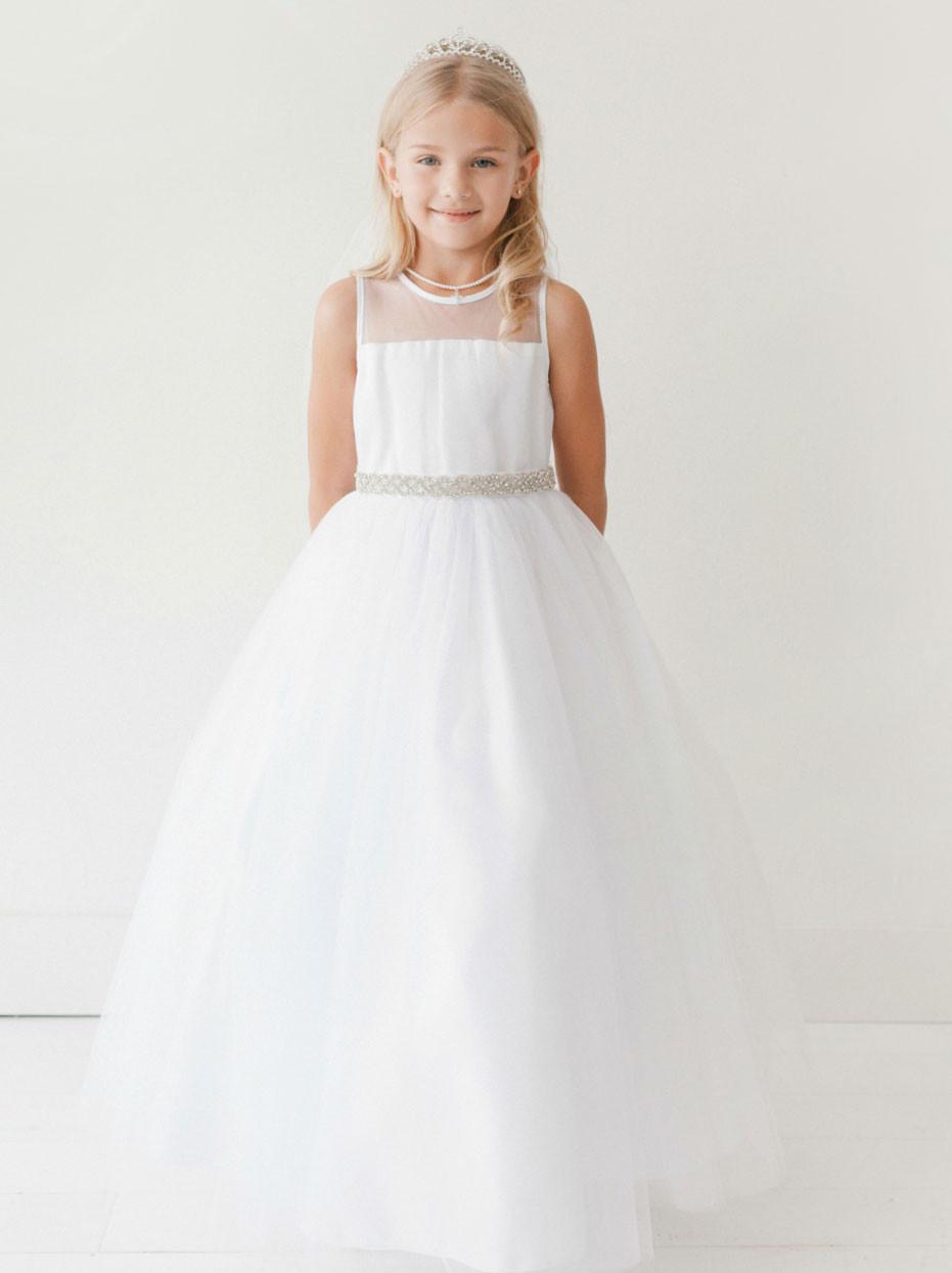 a87c049b946 Girls Floor Length Communion Dress