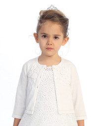 Girls Long Sleeves Cardigan | Flower Girl Special Occasion Cardigan