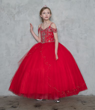 Red Pageant Gown | Girls Pageant Dress | Pageant Dress For Girl