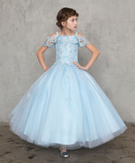 Beautiful Red Pageant Gown | Long Pageant Dress For Girls