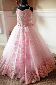 Magnificent Princess Flower Girl Pageant Gown | Girls Special Occasion Gown
