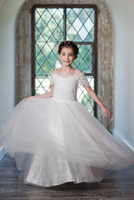Macis Design Communion Dress 1920 | White 1st Communion Gown