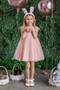 Lovely Kids Dress With Pearl Bodice