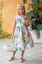 Girls Dress For Easter In Floral Print
