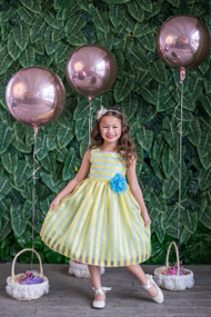 Kids Summer Dress In Two Tone Striped Color