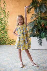 Fun Loving Floral Print Shift Dress For Kids