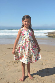 Girls Beautiful Floral Print Party Dress