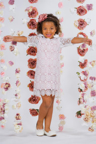 Girls Lace Dress With Long Sleeves