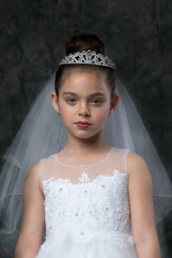 Tiara With White Veil For First Communion