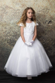 Petite Adele Couture White Communion Dress