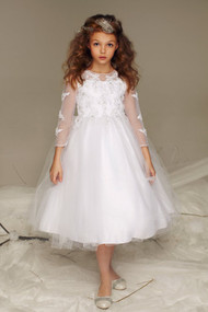 Petite Adele Couture Beaded Lace Tulle 1st Communion Dress