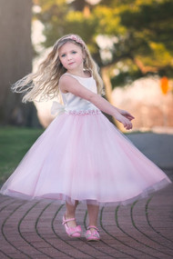Beautiful Two Tone First Communion Flower Girl Dress