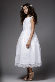 Petite Adele Couture Satin Lace First Communion Dress