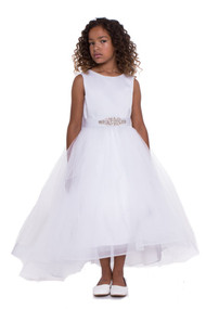 Petite Adele Couture Hi Lo Communion Flower Girl Dress