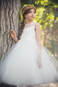 Beautiful Ivory 1st Communion Dress By Petite Adele Couture
