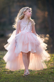Petite Adele Couture Hi Lo 1st Communion Flower Girl Dress