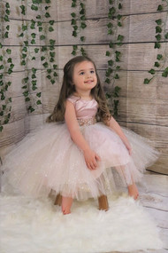 Gorgeous Couture Baby Party Dress In Glitter Tulle