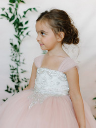 Amalee Couture Rose Flower Girl And Communion Dress