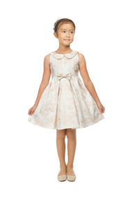 Princess Collection Jacquard Girls Party Dress