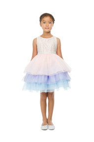 Princess Collection Girls Multi Layered Tulle Party Dress