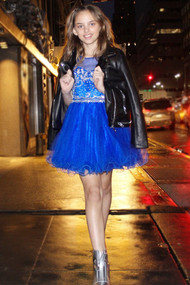 Petite Adele  Couture Beaded Pageant Dress For Girls | Teen Dress