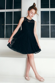 Beautiful All Over Lace Teen Dress  | Girls Lace Party Dress