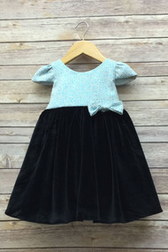 Adorably Sweet Baby Party Dress In Jacquard And Velvet