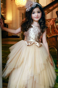 Girls Special Occasion Sequin And Tulle Party Dress