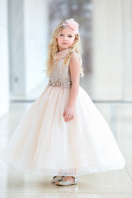 Stunning Satin Organza Flower Girl And Girls Party Dress