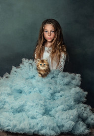 Enchanting Girls Special Occasion Couture Gown With Tulle Skirt