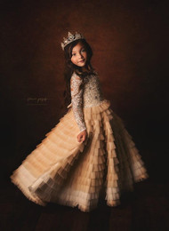 Couture Princess Special Occasion Dress With Layered Tulle Skirt