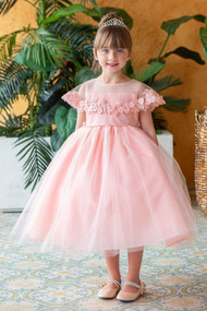 Beautiful Special Occasion Flower Girl Dress With Cape