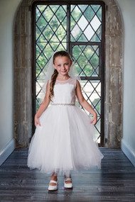 Beautiful Lace Tulle First Communion And Flower Girl Dress