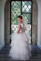 Satin Tulle Hi Lo Flower Girl First Communion Dress