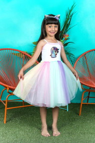 Multi Color Special Occasion Girls Tutu Party Dress